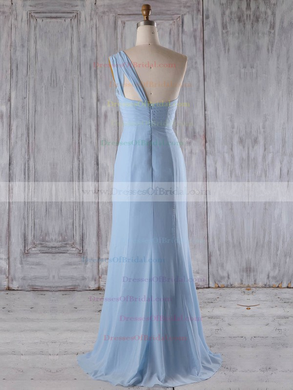 Chiffon A-line Scoop Neck Floor-length with Ruffles Bridesmaid Dresses #DOB01013268
