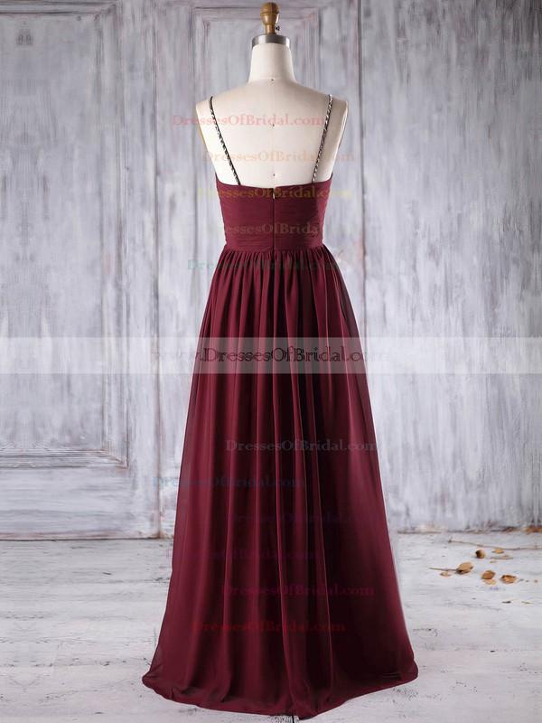Chiffon Empire Sweetheart Floor-length with Beading Bridesmaid Dresses #DOB01013270