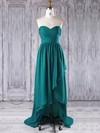 Chiffon A-line Sweetheart Asymmetrical with Ruffles Bridesmaid Dresses #DOB01013272