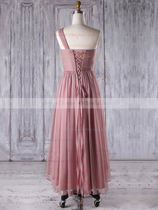 Chiffon A-line One Shoulder Asymmetrical with Ruffles Bridesmaid Dresses #DOB01013274