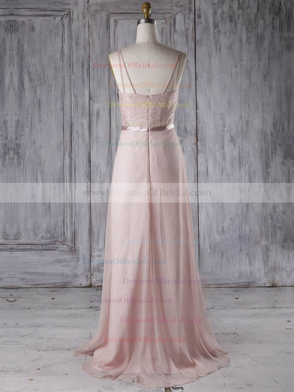 Chiffon A-line Sweetheart Sweep Train with Sashes / Ribbons Bridesmaid Dresses #DOB01013285