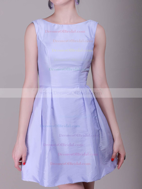 Bateau A-line Short/Mini Satin Bow Bridesmaid Dresses #DOB02013638