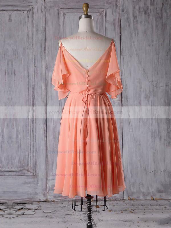 Chiffon A-line V-neck Short/Mini with Sashes / Ribbons Bridesmaid Dresses #DOB01013305