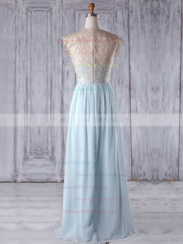 Lace Chiffon A-line Sweetheart Floor-length with Ruffles Bridesmaid Dresses #DOB01013327