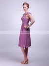 Straps A-line Knee-length Chiffon Pleats Bridesmaid Dresses #DOB02042142
