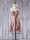 Chiffon Sequined Empire Sweetheart Short/Mini with Ruffles Bridesmaid Dresses #DOB01013357