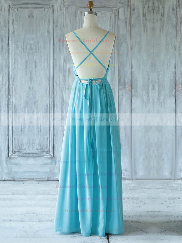Chiffon A-line One Shoulder Floor-length with Ruffles Bridesmaid Dresses #DOB01013359