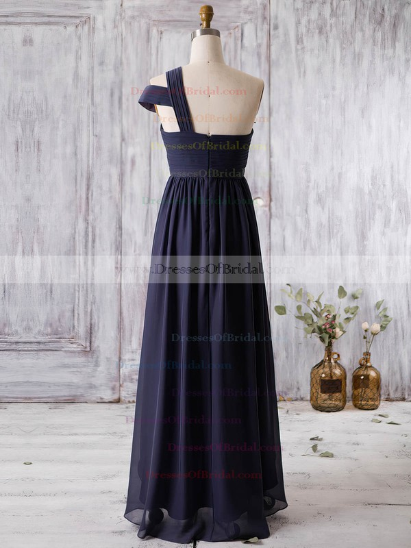 Chiffon A-line One Shoulder Asymmetrical with Ruffles Bridesmaid Dresses #DOB01013362