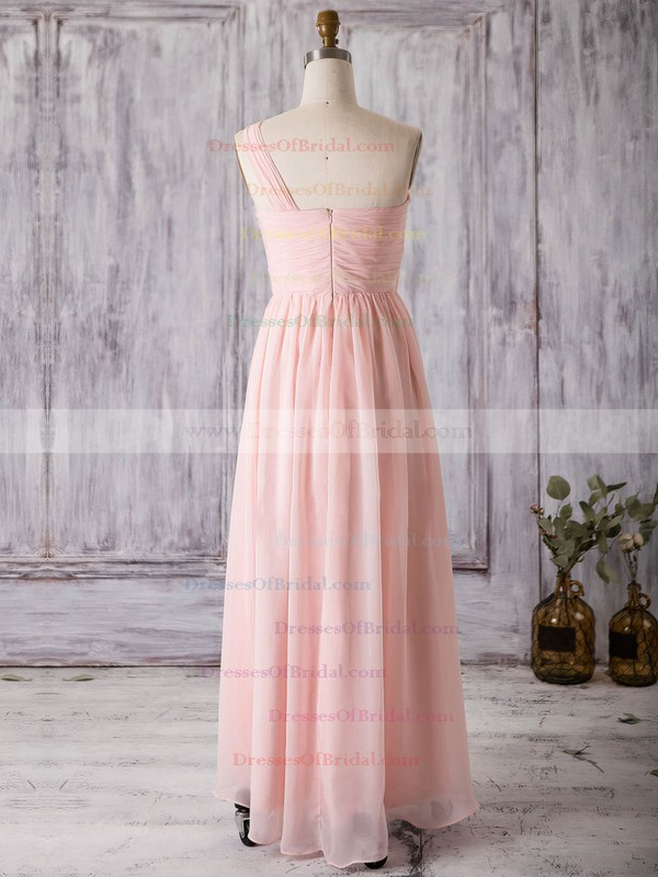 Chiffon A-line One Shoulder Asymmetrical with Split Front Bridesmaid Dresses #DOB01013367