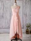 Chiffon A-line One Shoulder Asymmetrical with Split Front Bridesmaid Dresses #DOB01013367