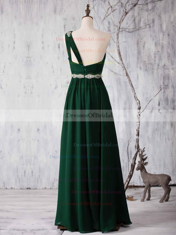 Chiffon A-line One Shoulder Floor-length with Sashes / Ribbons Bridesmaid Dresses #DOB01013371