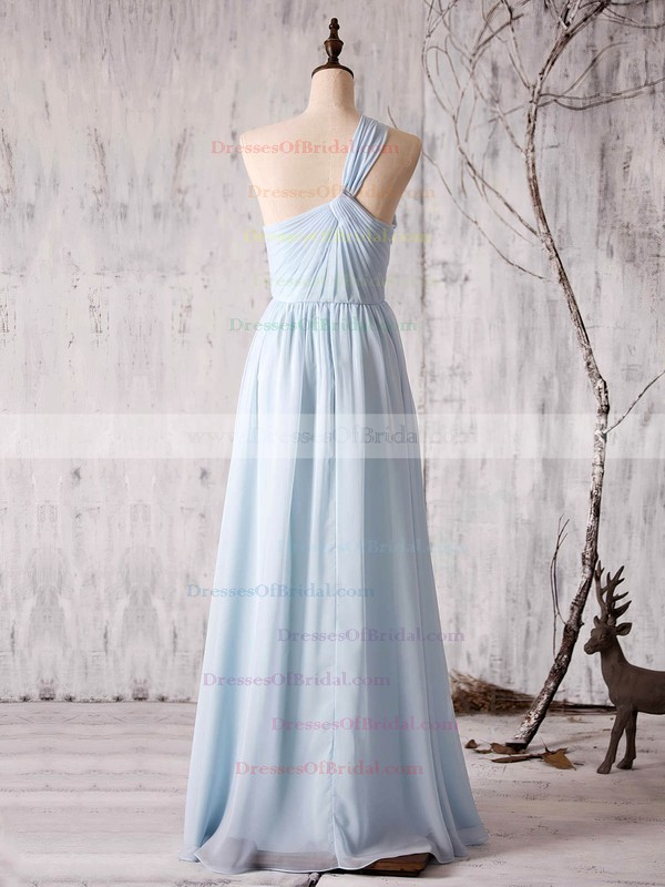 Chiffon A-line One Shoulder Floor-length with Ruffles Bridesmaid Dresses #DOB01013373