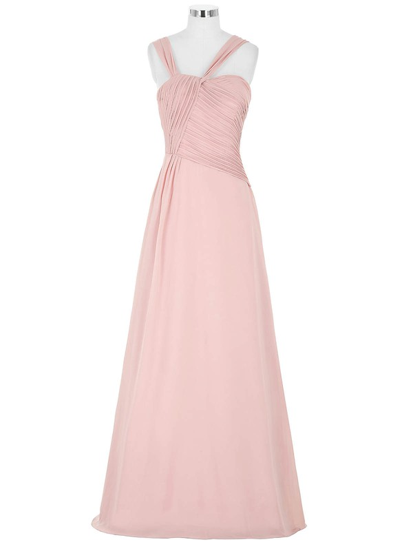 Chiffon A-line Sweetheart Floor-length with Pleats Bridesmaid Dresses #DOB01013395