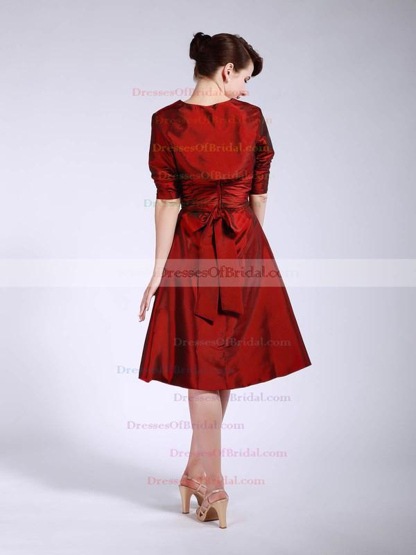 Strapless A-line Knee-length Taffeta Pleats Bridesmaid Dresses #DOB01012045