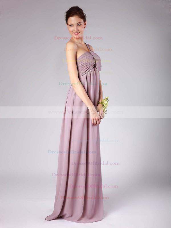 Strapless A-line Floor-length Chiffon Pleats Bridesmaid Dresses #DOB02013604