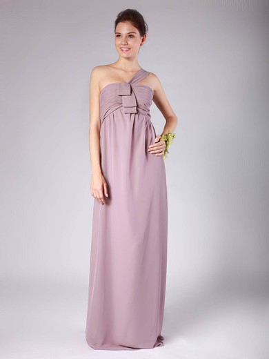Strapless A-line Floor-length Chiffon Pleats Bridesmaid Dresses #DOB02013604