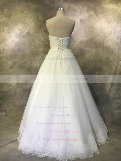 Tulle Ball Gown Sweetheart Floor-length with Sashes / Ribbons Wedding Dresses #DOB00022934