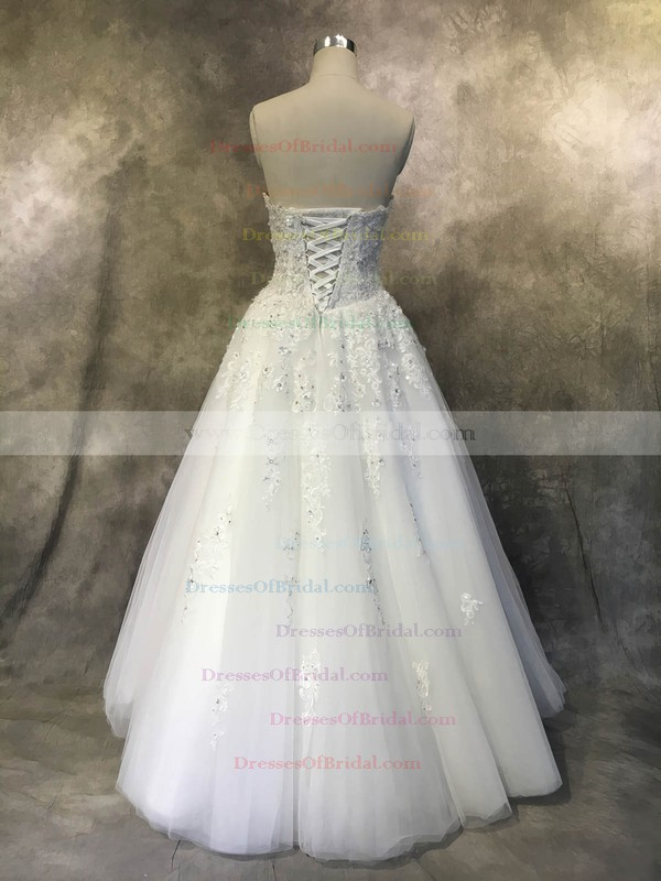 Tulle Ball Gown Sweetheart Floor-length with Appliques Lace Wedding Dresses #DOB00022935