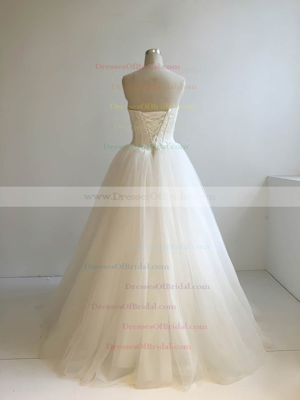 Tulle Ball Gown Sweetheart Floor-length with Appliques Lace Wedding Dresses #DOB00022947