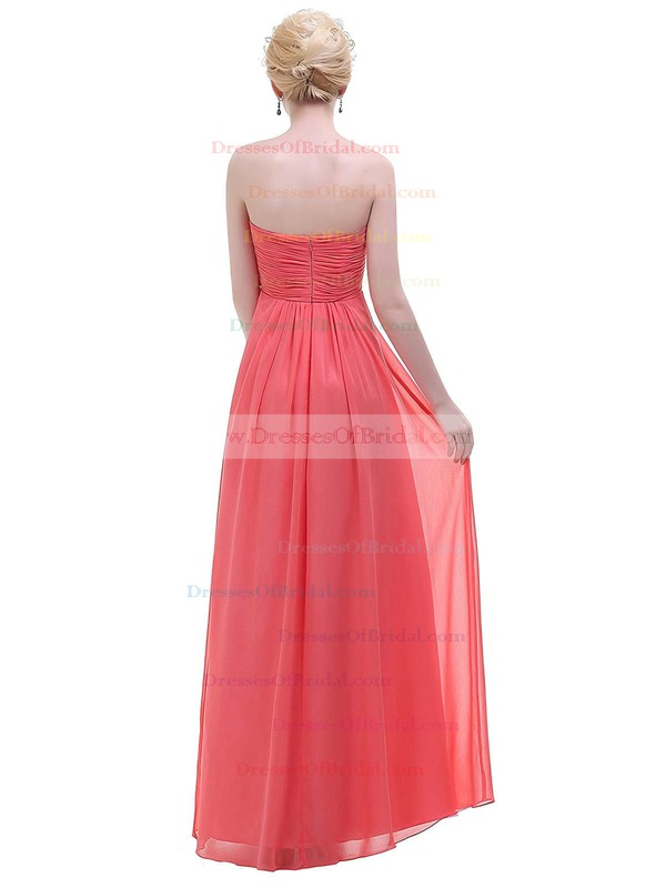 Chiffon Empire Sweetheart Floor-length with Ruffles Bridesmaid Dresses #DOB01013447