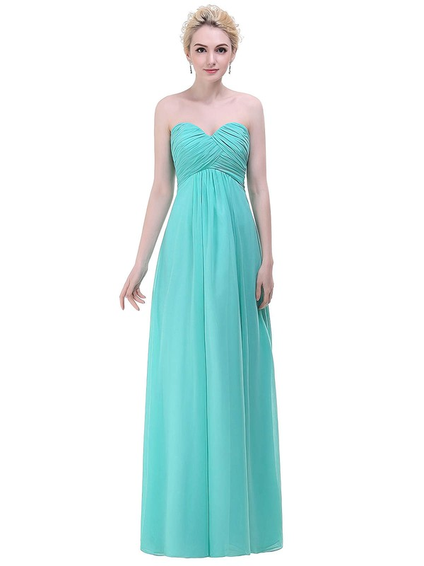 Chiffon Empire Sweetheart Floor-length with Ruffles Bridesmaid Dresses #DOB01013448