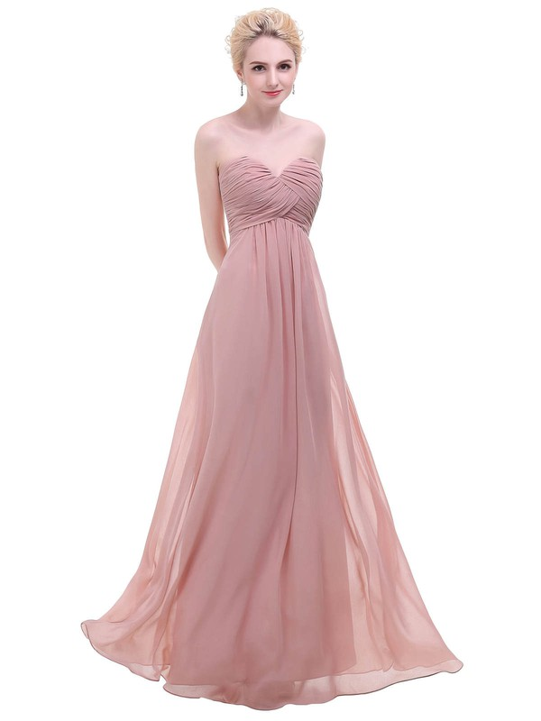Chiffon Empire Sweetheart Floor-length with Ruffles Bridesmaid Dresses #DOB01013451