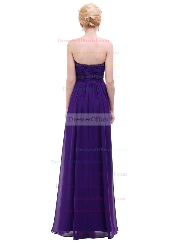 Chiffon Empire Sweetheart Floor-length with Ruffles Bridesmaid Dresses #DOB01013453