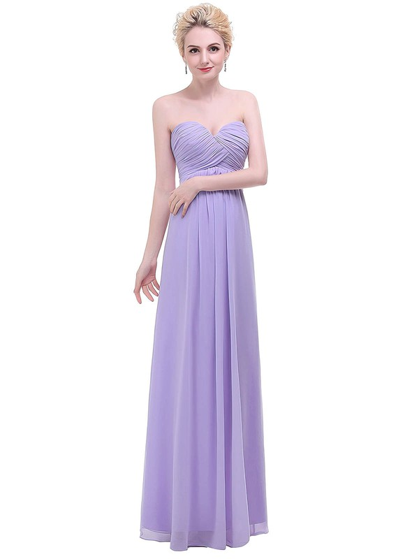 Chiffon Empire Sweetheart Floor-length with Ruffles Bridesmaid Dresses #DOB01013454
