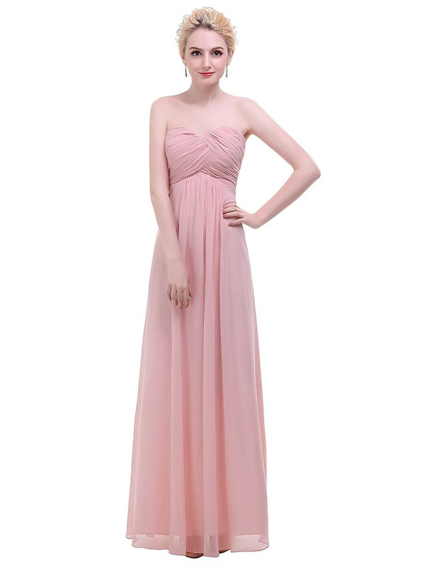 Chiffon Empire Sweetheart Floor-length with Ruffles Bridesmaid Dresses #DOB01013455