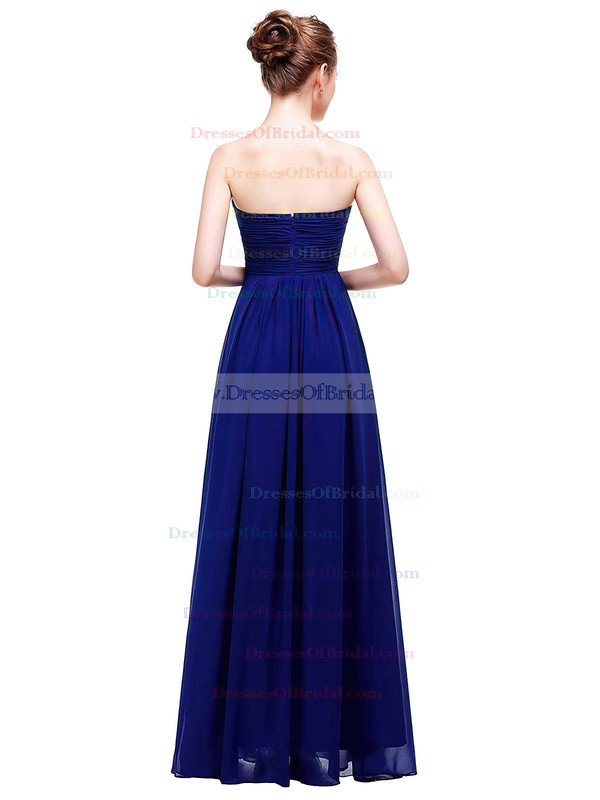 Chiffon Empire Sweetheart Floor-length with Ruffles Bridesmaid Dresses #DOB01013457