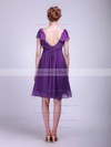 V-neck A-line Knee-length Chiffon Sashes/Ribbons Bridesmaid Dresses #DOB02013627