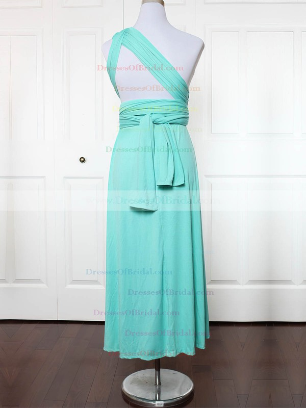 Jersey A-line One Shoulder Ankle-length with Ruffles Bridesmaid Dresses #DOB01013132