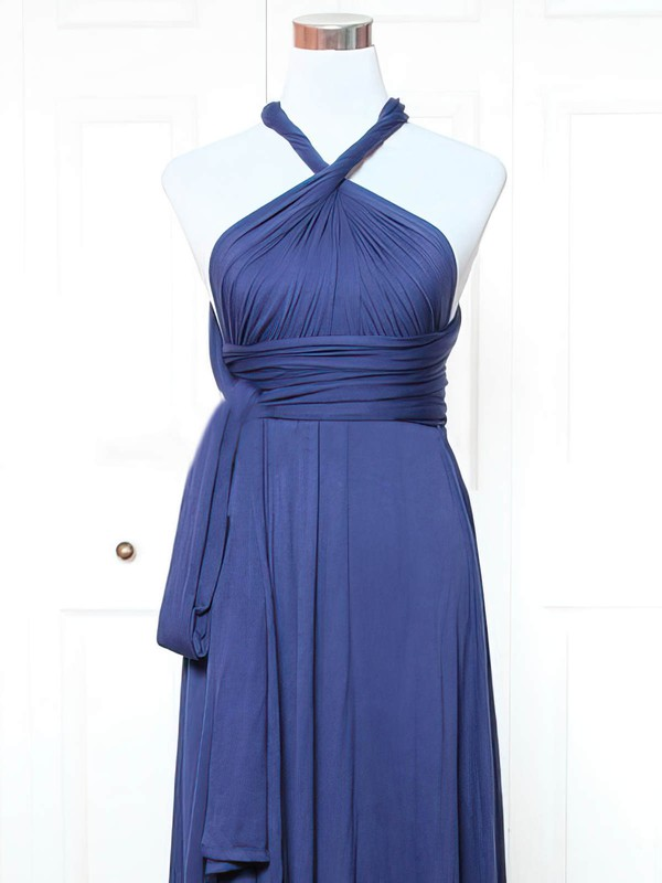 Jersey A-line V-neck Short/Mini with Ruffles Bridesmaid Dresses #DOB01013143