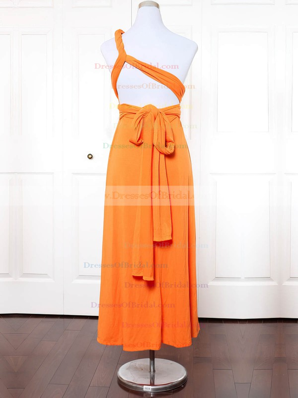 Jersey A-line One Shoulder Ankle-length with Ruffles Bridesmaid Dresses #DOB01013145