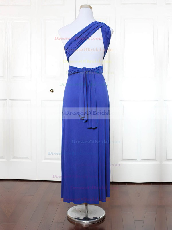 Jersey A-line One Shoulder Ankle-length with Ruffles Bridesmaid Dresses #DOB01013149