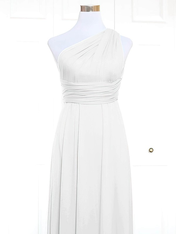 Jersey A-line One Shoulder Short/Mini with Ruffles Bridesmaid Dresses #DOB01013157