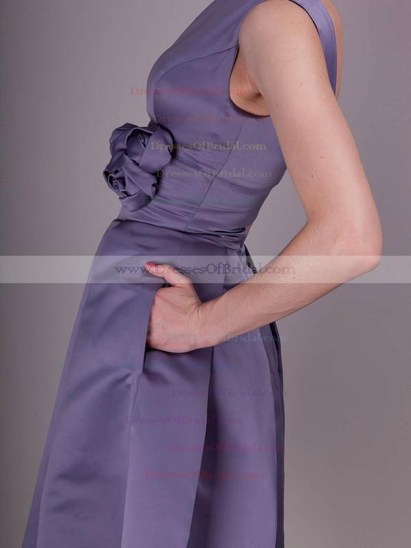 Bateau A-line Knee-length Taffeta Flower(s) Bridesmaid Dresses #DOB02013636
