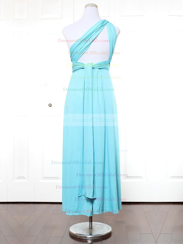 Jersey A-line One Shoulder Ankle-length with Ruffles Bridesmaid Dresses #DOB01013166