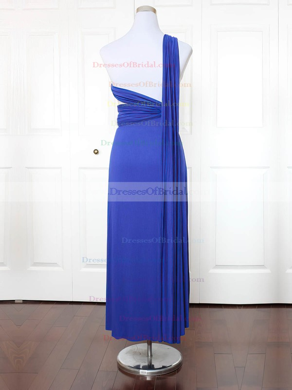 Jersey A-line One Shoulder Ankle-length with Ruffles Bridesmaid Dresses #DOB01013171
