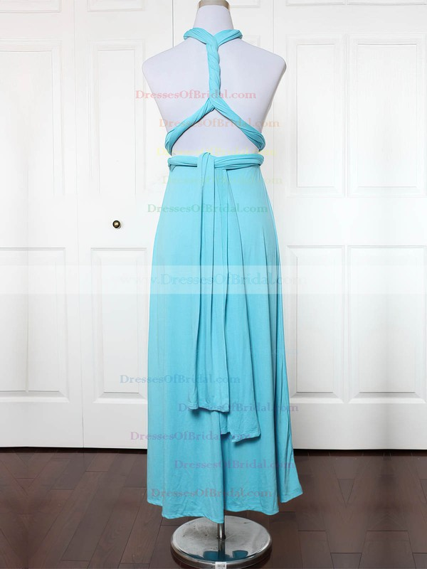 Jersey Empire Sweetheart Ankle-length with Ruffles Bridesmaid Dresses #DOB01013172
