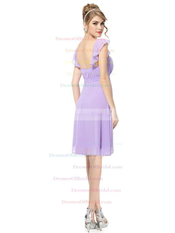 Chiffon Empire Square Neckline Short/Mini with Ruffles Bridesmaid Dresses #DOB01013392