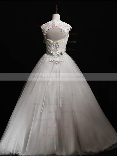 Tulle Ball Gown Sweetheart Floor-length with Beading Wedding Dresses #DOB00023041