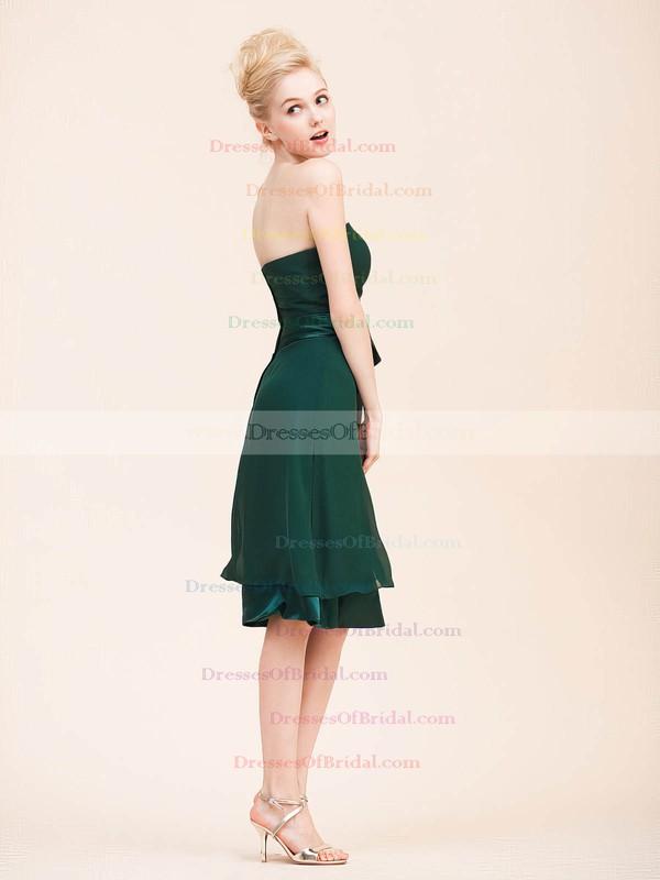 Strapless A-line Knee-length Chiffon Sashes/Ribbons Bridesmaid Dresses #DOB02022795