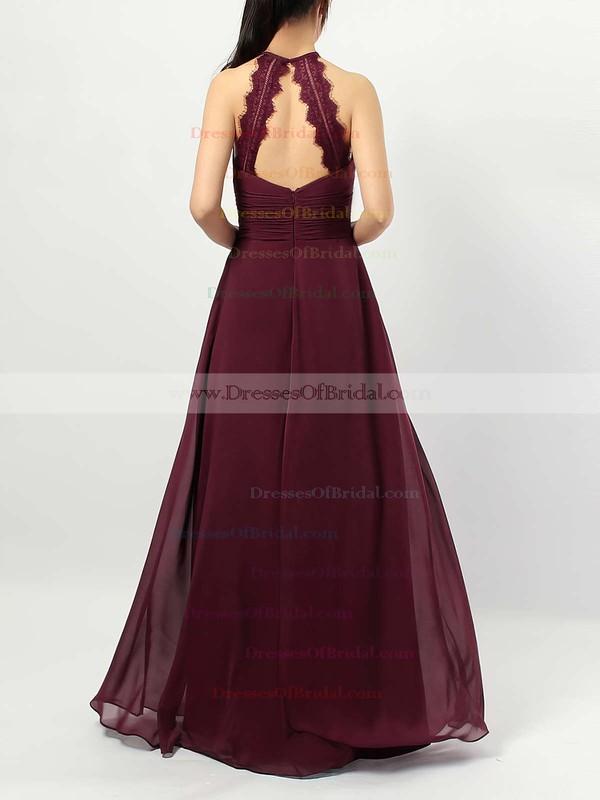 Chiffon A-line Scoop Neck Floor-length Ruffles Bridesmaid Dresses #DOB01013474