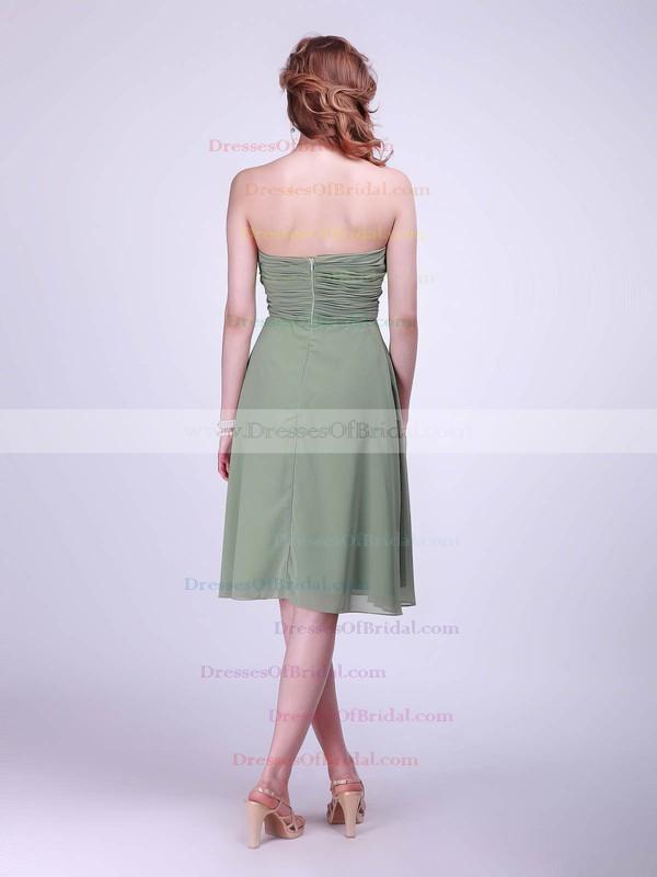 Sweetheart A-line Knee-length Chiffon Pleats Bridesmaid Dresses #DOB02042133