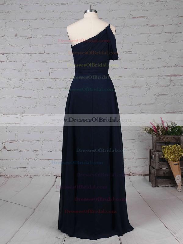 Chiffon A-line One Shoulder Floor-length Ruffles Bridesmaid Dresses #DOB01013484