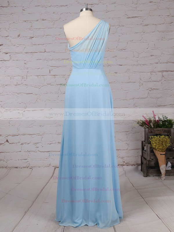 Chiffon A-line One Shoulder Floor-length Ruffles Bridesmaid Dresses #DOB01013561