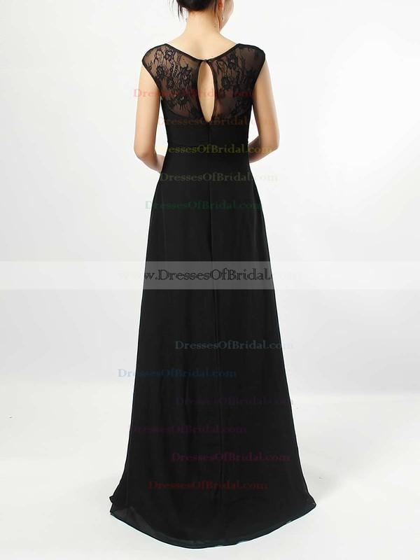 Lace Chiffon Empire V-neck Floor-length Ruffles Bridesmaid Dresses #DOB01013582