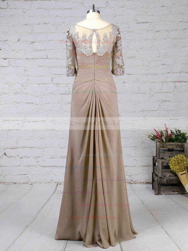 Chiffon Tulle A-line V-neck Floor-length Appliques Lace Mother of the Bride Dresses #DOB01021705