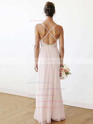 Chiffon A-line V-neck Floor-length Bridesmaid Dresses #DOB01013708